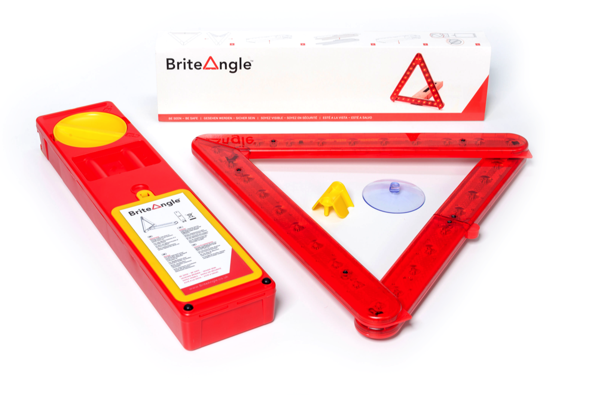 Bright Angle LED Warning Triangle