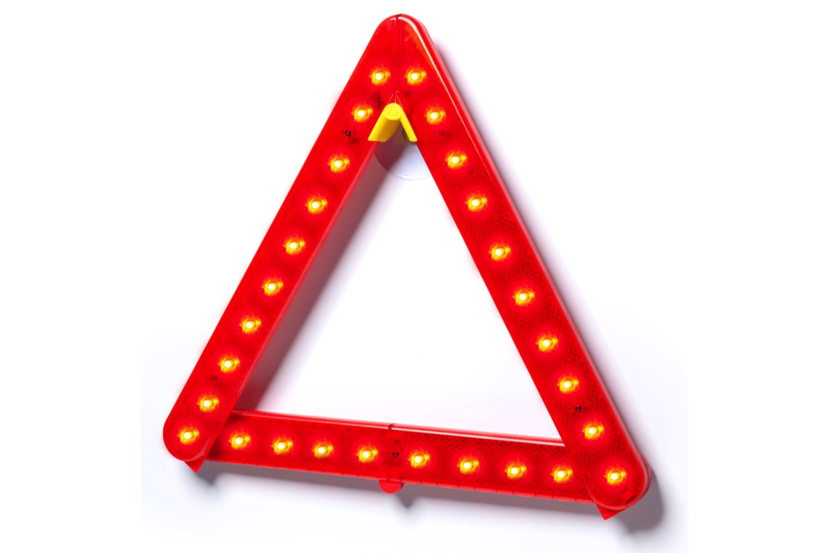Mounted LED Warning Triangle